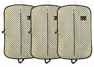 Kuber Industries 3 Pieces Foldable Non Woven Coat/Blazer Cover (Cream)