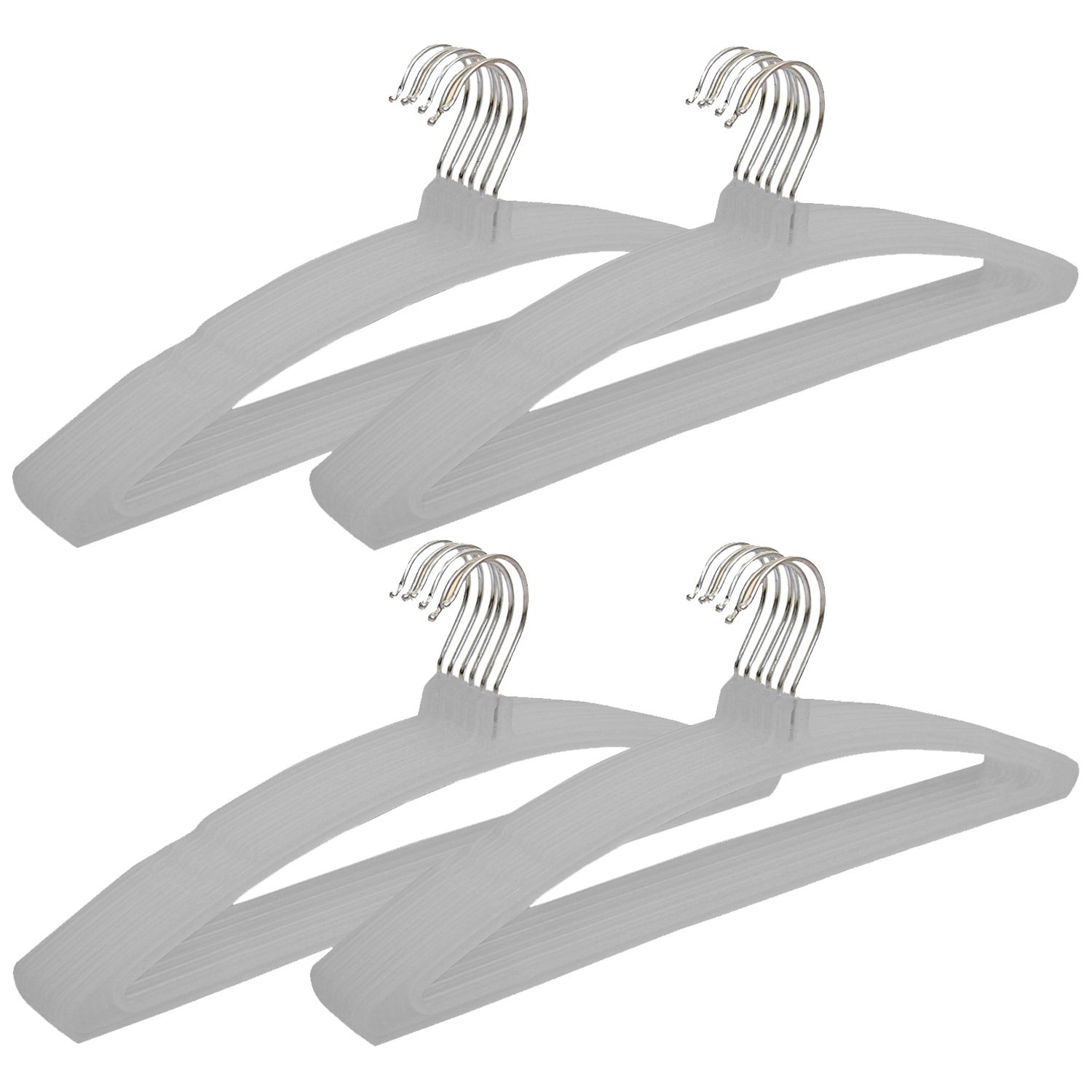 Kuber Industries Plastic Hanger For Suit,Cloth Set of 24 Pcs,Grey