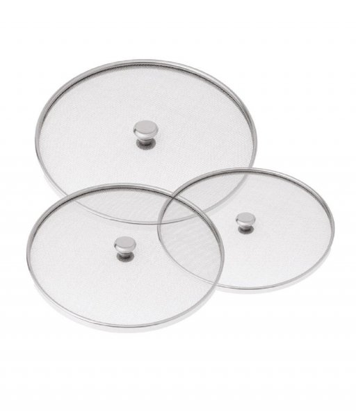 Kuber Industries™ Stainless Steel Food Cover/Milk cover Jali/Steel Jali/Multipurpose Net Lid Set of 3 Pcs (7 & 8 & 9 Inches) Code-Net39