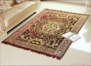 Kuber Industries Home Premium Living Room Velvet touch Carpet Rug -(84*54 Inches , Maroon) CA-04