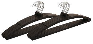 Kuber Industries Plastic Hanger For Suit,Cloth Set of 12 Pcs,Black
