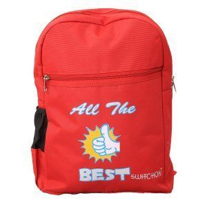 Kuber Industries Junior 15 Litres Kids Tuition Backpack- Red (5-10 Years) - KI9051