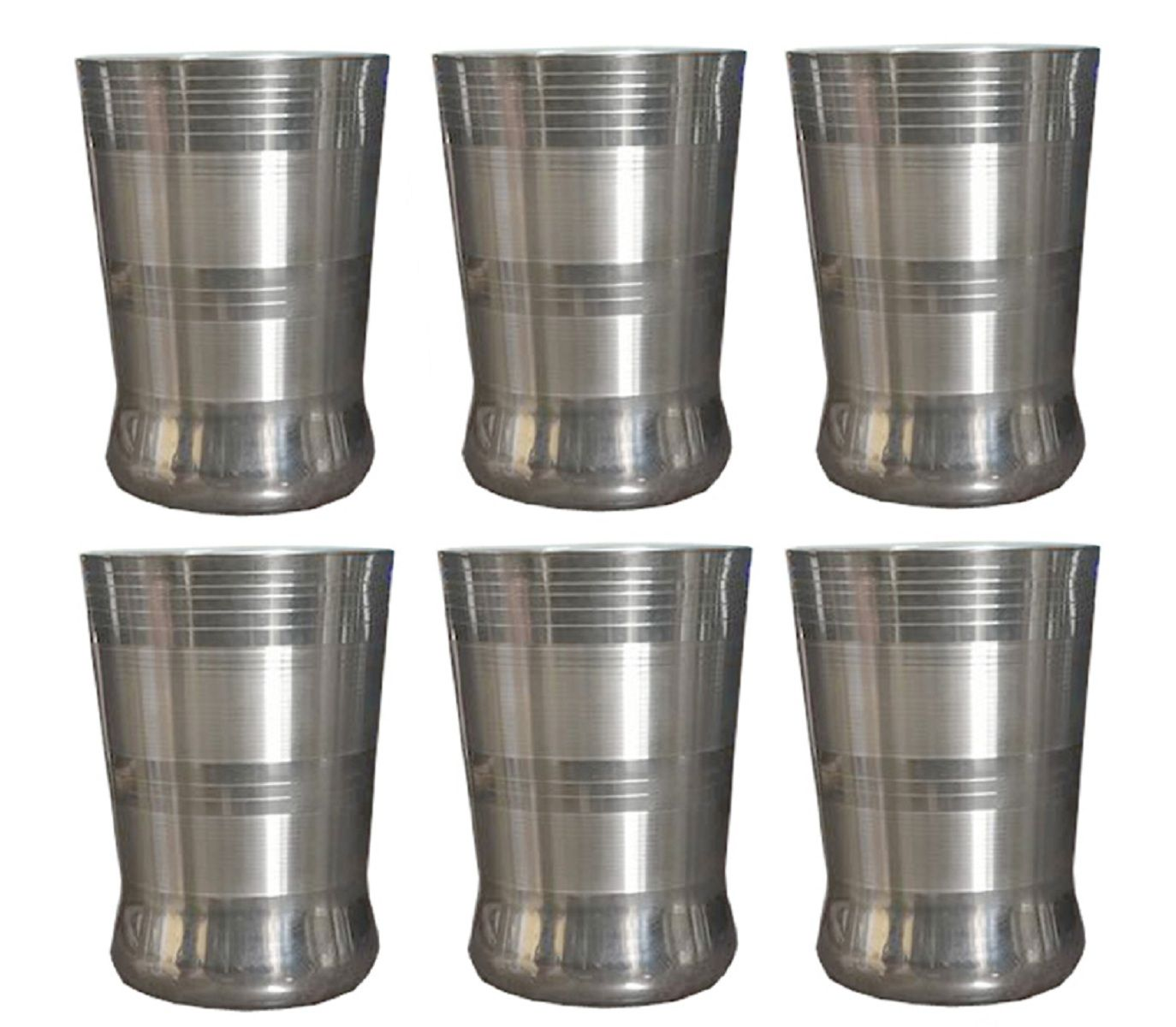 Kuber Industries™ Stainless Steel Drinking Glass/Water/Tumbler Glass set-Drinkware (Set of 6 Pieces) STEELG03