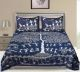 Kuber Industries Cotton 144 TC Double Bedsheet with 2 Pillow Covers (Blue)