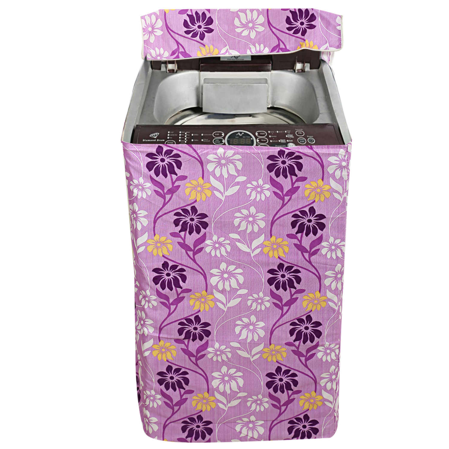 Kuber Industries Fabric Top Load Fully Automatic Washing Machine Cover (Purple)