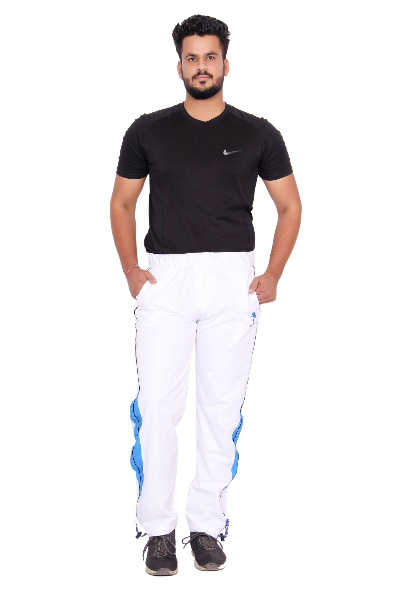 Kuber Industries Cotton Pajama Sports Lower Track pant for men (White)