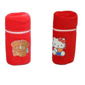 "Kuber Industriesâ""¢ Baby Soft Feeding Bottle Cover Velvet with Zip - Set of 2 - KUB365"