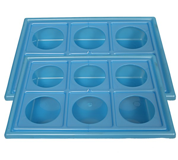 Kuber Industries 2 Pcs Plastic Glass Holder Tray (Blue)-CTKTC1920