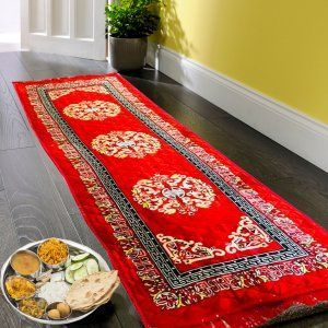 Kuber Industries Bed Side Runner,Floor Runner,Kitchen Mat In Velvet Material Set of 2 Pcs  (6*2 Feet) (Code-01)