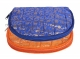 Kuber Industries Cotton 2 Pieces Jewellery Kit (Orange & Blue) -CTKTC5339