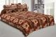 Kuber Industries Cotton Double Bed Sheet with Two Pillow Covers -  Light Brown