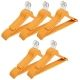 Kuber Industries Plastic Hanger For Suit Set of 30 Pcs,Wooden