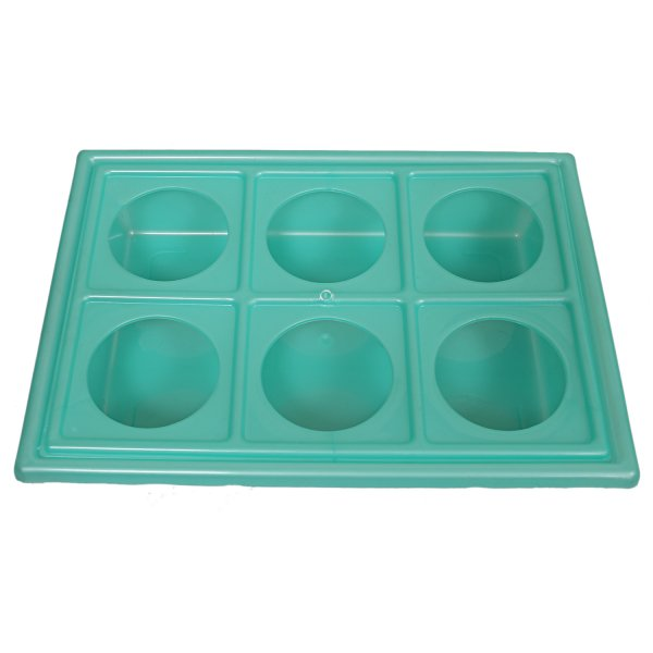 Kuber Industries Plastic Glass Holder Tray (Green)-CTKTC1915