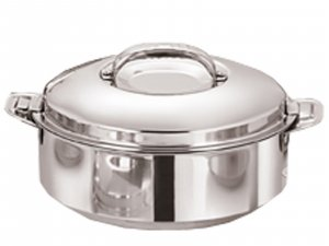 Kuber Industries Casserole/HotPot,chapati box/chapati container/hot case in Stainless Steel 2500 ML  (Cass16)