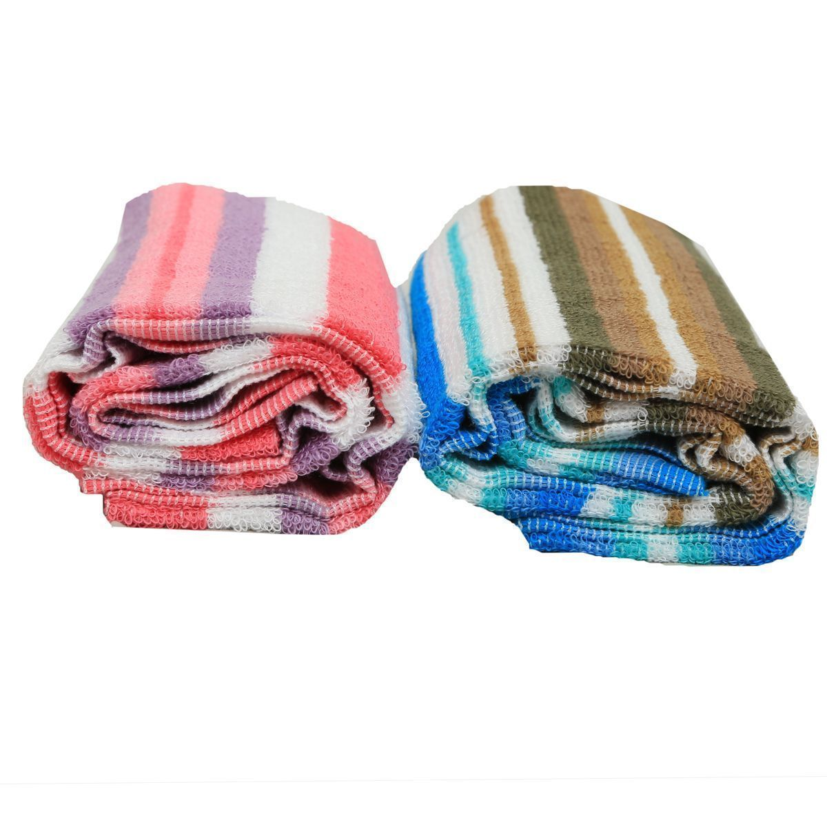 Kuber Industries Soft Terry Medium Size Ladies Bath Towel ,Women's Bath Towel Set Of 2 Pcs GSM-400 (24*48 Inches ) Multi -KU43_1
