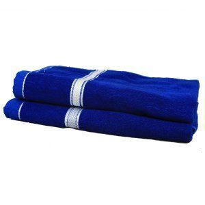Kuber Industries Soft Terry Full Size Men's Bath Towel  Set Of 2 Pcs GSM-400 (30*60 Inches ) Royal Blue -KU4