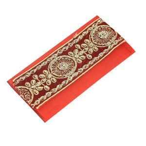 Kuber Industries™ Shaadi Money Envelopes - Pack of 4 -Designer Lace - Assorted colours