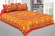 Kuber Industries Cotton 144 TC Double Bedsheet With 2 Pillow Cover (Red)