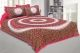 Kuber Industries Cotton 144 TC Double Bedsheet with 2 Pillow Covers (Pink)Dandiya Design