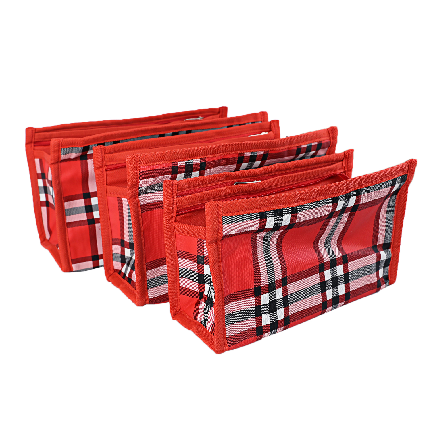 Kuber Industries Rexene 3 Pieces Multipurpose Travelling Kit set (Red)-CTKTC3707