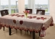 Kuber Industries Cotton 6 Seater Dining Table Cover (Red) -CTKTC5157