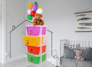 Kuber Industries™ Storage Drawers Basket for Kitchen/Office/Children/Toy With 4 Drawer in Moduler Design (Multiple usages) Basket009