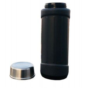 Kuber Industries™ Insulated Flask 6 hours Hot / Cold Mug, Water Beverage Cup, Travel Tumbler 650 ml, Grey (Flask03)