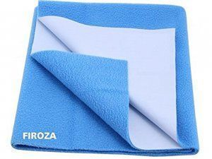 "Kuber Industriesâ""¢ Waterproof Baby Bed Protector, Dry Sheet, Reusable Mat Large Size 100*70 Cm KI07009"
