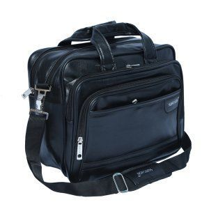 """Kuber Industries™ Soft Leather 15,6-Inch Black Laptop Briefcase,Laptop Bag,Office Bag (Lap01)  """
