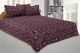 Kuber Industries Cotton Double Bed Sheet with Two Pillow Covers -  Purple