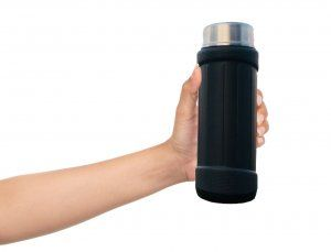 Kuber Industries™ Insulated Flask 6 hours Hot / Cold Mug, Water Beverage Cup, Travel Tumbler 650 ml, Grey (Flask04)