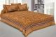 Kuber Industries Cotton 144 TC Double Bedsheet with 2 Pillow Covers (Brown)Floral Design