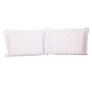 "Kuber Industriesâ""¢ White Embroided Premium Cotton Pillow Cover with Frill Flange,Set of 2   - KU86"