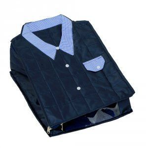 """Kuber Industries Large Size Shirt Cover (Soft Cotton Parachute Material) Blue Color With Textured Dotted Border -KI3171 """