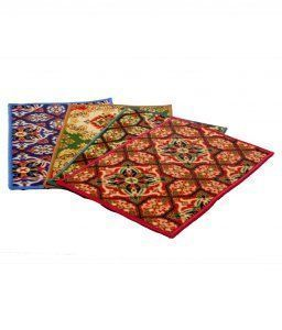 Kuber Industries Anti Skid Door Mat Set of 3 Pcs(colour & Print might vary according to availability)