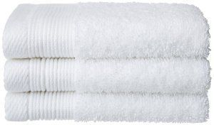 """Kuber Industries Cotton Bath Towel Set of 3 Pcs (27*54 Inches White) """