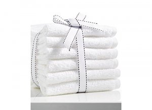 """Kuber Industries Cotton Bath Towel Set of 6 Pcs (27*54 Inches White) """