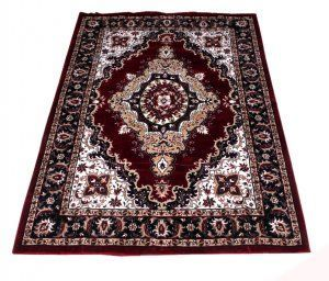 """Kuber Industries Home Premium Living Room Valvet touch Carpet rug -(5*7 Feet , Maroon) """