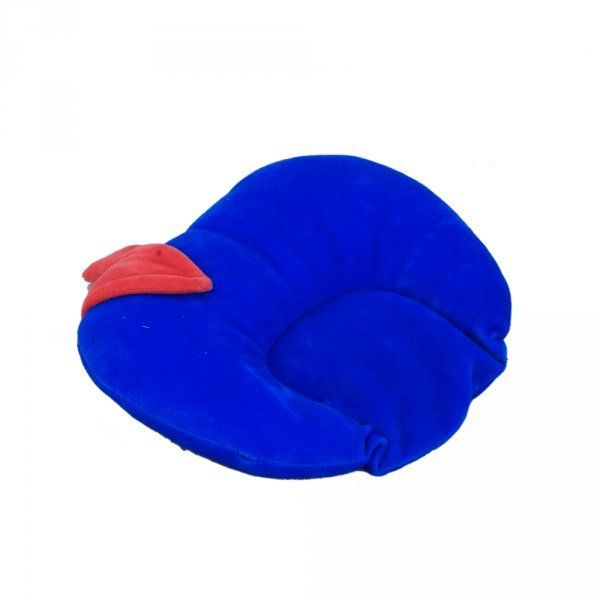 Kuber Industries Mustard Seeds (Rai) Pillow - Apple Shape (Velvet), Blue
