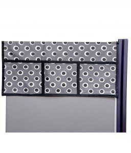 Kuber Industries Decorative Fridge Top Cover (Grey)
