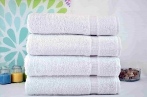 """Kuber Industries Cotton Bath Towel Set of 4 Pcs (27*54 Inches White) """