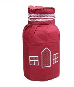 Kuber Industries Cylinder Cover (Quilted Cotton Material)