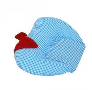 Kuber Industries Mustard Seeds (Rai) Baby Pillow - Apple Shape (Cotton),Sky Blue Recommended Age-0-6 month