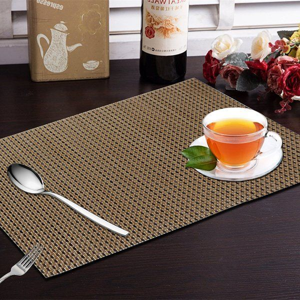 Kuber Industries 6 Piece Dining Table Placemats in Weaving Style  - KI3444