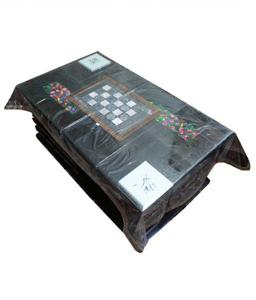 Kuber Industries Center Table Cover Laminated Patch Design 4 Seater (40*60 Inches)