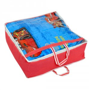 """Kuber Industries Non Woven Double Blanket Bag With handle (21*21*8 Inches)-KI3212 """