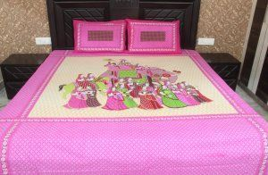 """Kuber Industries Jaipuri Print Bedsheets with 2 Pillow Covers, King Size double bed bedsheet,100% cotton """