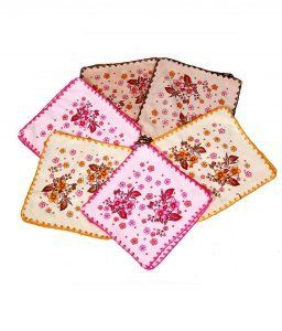 Kuber Industries Towel Women Handkerchief Set of 6 Pcs (Soft Cloth Material)