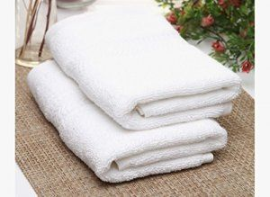 """Kuber Industries Cotton Bath Towel Set of 2 Pcs (27*54 Inches White) """