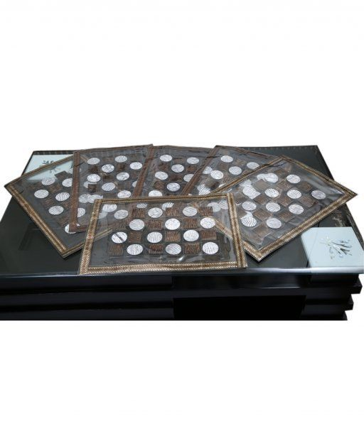 Kuber Industries Dining Table Place Mats Set of 6 Pcs in laminated Patch Design